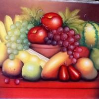 Lukisan Buah Buahan 80x60 Simbol Hadirkan Kelimpahan Makanan di Rumah6