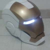 Helm Iron Man Mark IV 4 Cosplay Ironman Helmet Open Face Wearable