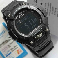 jam tangan pria casio ws220-1b tenaga matahari tough solar full black
