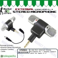 External Microphone Stereo for GoPro Hero3+/Hero4