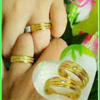 cincin couple pasir emas stip eye