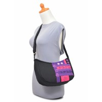 Tas Selempang Wanita - Maika Sling Bag Hangout Black Purple