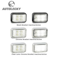 LED AUTOLAMPS 32-35WM ,LIGHT,MARKER,LED,FRONT IND,12-24V,BLK,CLR