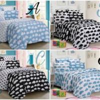harga Bed cover set katun halus Awan-hujan hitam size 160x200/180x200 Tokopedia.com