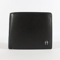 Dompet Kulit Pria Tidur Premium Branded | Aigner 38-12 Black