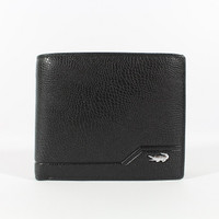 Dompet Kulit Pria Tidur Premium Branded | Crocodile 1608-12 Black