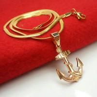 Jual Kalung Titanium Gold Jangkar xuping Murah