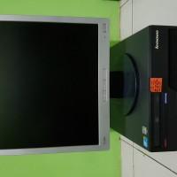 Paket Komputer Lenovo core2duo & Lcd 17