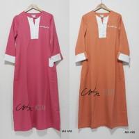 Gamis Pink Variasi List Putih Katun Baloteli Merk Le Couture - MH498