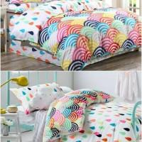 harga Bed cover set katun lokal halus Pelangi-hujan size 160x200/180x200 Tokopedia.com