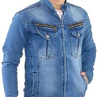 jaket jeans pria, jaket jeans cowok, jaket distro keren spi 436