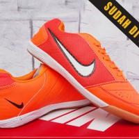 Sepatu Futsal Nike Lunar Gato Orange Kw Super (Futsal-Bola-Soccer)