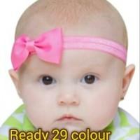 Jual Bandana Bayi / Baby Headband - Single Bow Medium Polos Murah