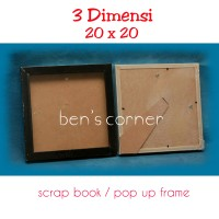 harga frame foto 3 dimensi uk.20x20 ( scrapbook/ pop up frame) - black Tokopedia.com