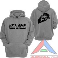 Hoodie / Sweater Metal Gear Solid -Grey -Backfront Logo