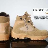 Sepatu Pria Crocodile Cordura Zip Boots Safety Grade Ori Berkualitas