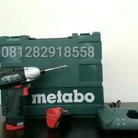 Mesin Bor Obeng Baterai Metabo Cordless Powermaxx SSD + 40