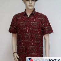 harga Hem Batik Merah Motif Otentik Papua Tokopedia.com