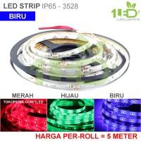 Jual Lampu LED Strip Flexible biru Roll 5 Meter 6W IP65 SMD 3528 Mobil Murah