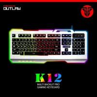 Fantech K12 Outlaw Metal Backlit Pro Faming Keyboard_Bis
