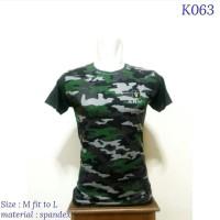 Kaos fitness+Army+Nyaman untuk nge gym