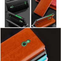 MOFI Leather Keren Book Dompet Stand Flip Case Cover Casing Nokia X