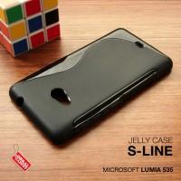 Softcase Black Clear Soft Case Cover Casing Nokia Microsoft Lumia 535