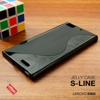 Softcase Jelly Silikon Black TPU Soft Case Cover Casing Lenovo K900