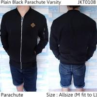 harga Jaket Cowok Keren Gaul Plain Black Parachute Varsity Casual-108 Tokopedia.com