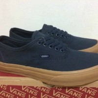 SEPATU SNEAKERS VANS AUTHENTIC NAVY SOL GUM ORIGINAL BNIB