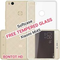 Xiaomi Mi4s Softcase Ultrathin Jelly FREE Tempered Glass Mi 4s Mi4 s