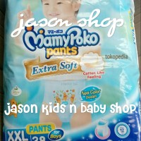 Pampers bayi/Diapers Mamy Poko Extra Soft Boys n Girls XXL 38