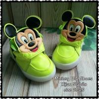 harga Sepatu Anak LED Mickey Hijau Stabilo size 21-25 Tokopedia.com