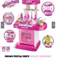 Jual Mainan Anak Cewek Kitchen Set Koper Warna Pink Murah