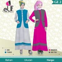 Baju Muslimah Gamis Murah Bahan Katun Carded ELIF - GE 02
