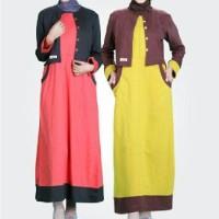 Baju Muslimah Gamis Murah Bahan Katun Carded ELIF - GE 03