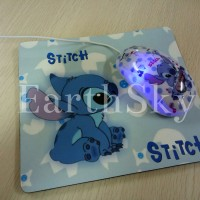 Corded computer mouse with mouse pad (Stitch, Mickey, Hello Kitty)