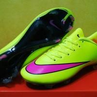 sepatu soccer nike mercurial vapor x lime pink fg grade ori import