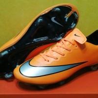 sepatu soccer nike mercurial vapor x orange fg grade ori import