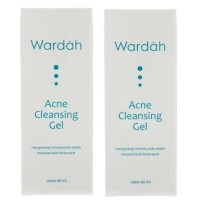 Wardah Acne gentle scrub 60 ml-EmpatPcs