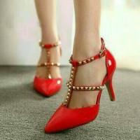Sepatu High Heel Murah Replika Valentino Merah