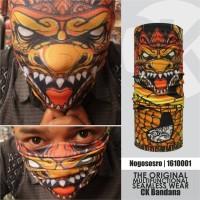 CK Bandana 1610001 Buff Masker Multifungsi Motif Keris Nogo Sosro