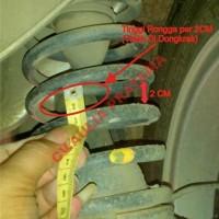 """Peredam Guncangan Mobil Avanza """"08-09"""" Depan (3cm) & Belakang (4cm)"""