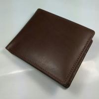 Jual Dompet Lipat Kulit Asli warna Coklat | Bifold wallet | Leather Wallet Murah