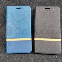 Stripe Leather Flip Case Book Cover - Acer Liquid E700