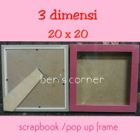 harga frame foto/bingkai foto 3 dimensi uk.20x20 / scrap book /pop up frame Tokopedia.com