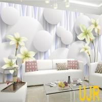 Jual Wallpaper Dinding Model Bunga Lily Untuk Ruang Tamu Kota Pontianak Usaha Jaya Raya Tokopedia