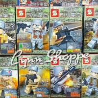 lego minifigure SY 606 second world war - 8 pc / set