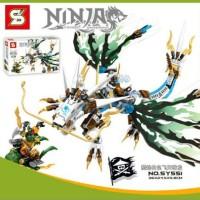 Lego SY 551 Ninjago - Zane White Dragon : 352 pcs