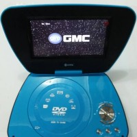 GMC DIVX-808R-TV 7' Portable DVD Player - Biru
